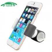 carking montaje de la salida de aire del sostenedor del telefono celular de coches y bicicletas - gris + blanco