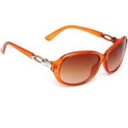 Eyeland Oval Sunglasses(Brown)