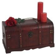Holztruhe Holzbox Schatztruhe Valence Antikoptik 30x57x29cm ~ Variantenangebot