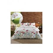Lenjerie de pat, Dormisete, 2 persoane, Summer shades lime, renforce imprimata, bumbac, 220 x 230 cm, Verde