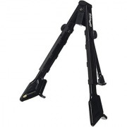 Stagg SG-A106U BK Steel Folding Guitar Stand for Acoustic & Electric Guitars with 2 Extendable Cradling Legs - Black