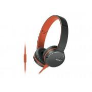 Sony Auriculares con cable SONY MDR-ZX660AP (On ear - Micrófono - Atiende llamadas - Naranja)