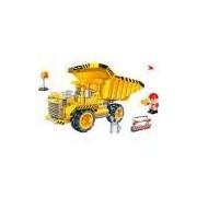 Blocos de Montar Banbao Obras Caminhão Pedreira