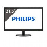 "Монитор 21.5"" (54.61 cm) Philips 223V5LHSB, TFT-LCD панел, FullHD, 5 ms, 10 000 000:1, 250 cd/m², HDMI"