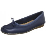 Clarks Women's Freckle Ice Navy Leather Pumps - 6 UK/India (39.5 EU)