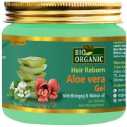 Indus Valley Bio Organic Hair Reborn Aloe Vera Gel With Bhringraj Walnut Oil For Ultimate Hair Management(175 ml)