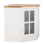 Maisons du monde Mueble alto de cocina esquinero acristalado de madera de mango color marfil An. 92 cm Eleonore