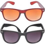 Aligatorr Combo Of 2 Wayfarer Unisex Sunglasses kc bnfoldCRLK