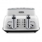 DeLonghi CTZ4003.W Scultura 4 Slice Toaster - White