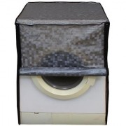 Glassiano grey colored waterproof and dustproof washing machine cover for front load IFB elenaaquavx6 6KG washing machine
