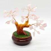 Copac in ghiveci cu pietre de cuart roz - 12cm