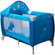 Pat pliant Samba Lux Coto Baby, suporta maxim 15 kg, albastru