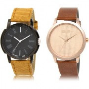The Shopoholic Black Rose Gold Combo Stylist Designer Combo Pack 2 Black And Rose Gold Dial Analog Watch For Boys Fashion Watches For Womens