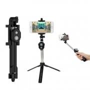 Bat Suport Telefon pentru Selfie Stick Trepied cu Telecomanda Bluetooth, Rotire 360 Grade, Compatibil Android si iOS