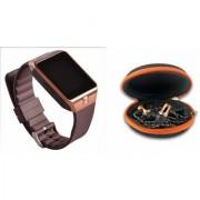 Mirza DZ09 Smart Watch and Katori Earphone for LG OPTIMUS VU(DZ09 Smart Watch With 4G Sim Card Memory Card| Katori Earphone)