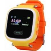 Ceas Smartwatch copii Wonlex GW900S functie telefon buton SOS monitorizare GPS SIM Portocaliu Bonus Cartela Prepaid Vodafone Power