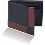 Adam Zac Men Casual Black, Brown Artificial Leather Wallet(8 Card Slots)