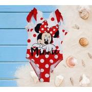 Costum de baie intreg Minnie Mouse rosu 3-8ani