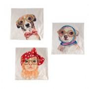 geschenkidee.ch Kissenhüllen Crazy Pets 3er Set