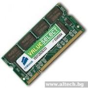 SODIMM, 2GB, DDR2, 800MHz, CORSAIR (VS2GSDS800D2 G)