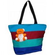 Atorakushon Multipurpose Carrying Case Women's Elegance Ethnic Cotton with small teddy Style Handbag .