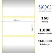 Etichette SQC - Carta patinata (bobina), formato 41 x 22