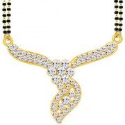 Sikka Jewels Amazing Gold Plated Australian Diamond Mangalsutra Pendant