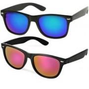 Creative India Exports Wayfarer Sunglasses(Pink, Blue)