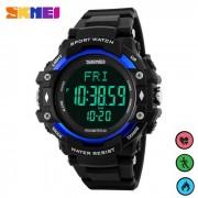 SKMEI 1180 multifuncion banda PU reloj de deportes digital - azul