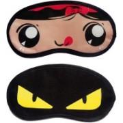 Jonty RedRibbon-YellowEye Cartoon Travel Sleeping Eye Cover Blindfold (Pack of 2) Eye Shade(Multicolor)