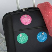 Stikets Round luggage labels