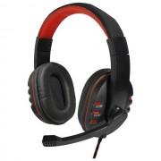 Maxy Art Cuffie On-Ear Nemezis Per Pc Con Microfono Universali Black- Red