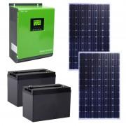 Kit Solar PNI GreenHouse SC1800 2.4KW 24V PWM 2 Acumulatori 100A 2 Panouri Monocristaline 250W PNI-KS2.4KW (PNI)