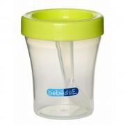 Biberon din silicon 120 ml cu lingurita BebeduE 80168