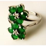 Inel argint VR016717-onix verde (MASURI IN STOC ⤵: 52 mm circumferinta sau 16,6 mm diametru interior, Categorie: inele)