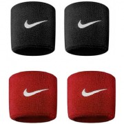 Verceys Black And Red Sports Wrist Band - Pack Of 4