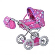 Knorrtoys Knorr Toys Knorr63115 Combi Ruby Pink Splash Dolls Pram and Buggy