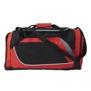 Geen Rood met zwarte sporttas/reistas 45 liter