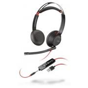 Plantronics Blackwire 5220 Stereofonico Padiglione auricolare Nero, Rosso