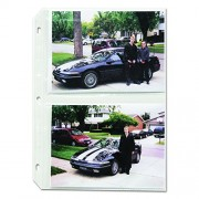 C-Line 52572 Clear Photo Holders for Four 5 x 7 Photos 3-Hole Punched 11-1/4 x 8-1/2 50/bx