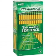 Dixon TICONDEROGA Pencils Box of 96 No 2 HB Black Graphite Point 13872