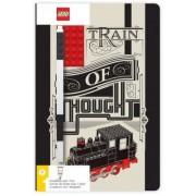SmartLife LEGO Stationery Zápisník A5 s černým perem - Train of Thought