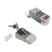 CAT7 RJ45 Shielded Connector + Insert 22-24AWG Cable up to 0.62mm Conductor