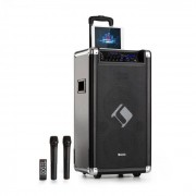 "Auna Moving 120 PA-anläggning 2x8"" woofer 60/200 W (max) VHF-mikrofon USB SD BT AUX mobil"