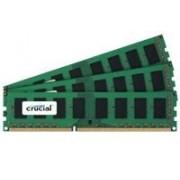 Crucial - DDR3 - 3 Go : 3 x 1 Go - DIMM 240 broches - 1600 MHz / PC3-12800 - CL11 - 1.5 V - mémoire sans tampon - non ECC