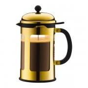 Bodum CHAMBORD® Cafetière à piston, 12 tasses, 1.5 l, avec bec verseur Or