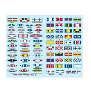Trumpeter USS Missouri Signal Flags for Kit #3705 (73-Piece), 1/200 Scale