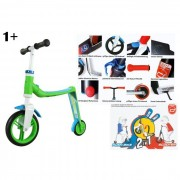 Scoot and ride scooter 2 in 1 buddy blu/verde 1+