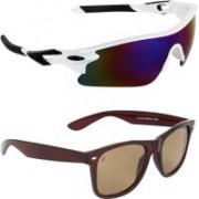 Zyaden Sports, Wayfarer Sunglasses(Multicolor, Brown)