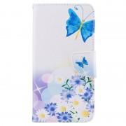 Bolsa Tipo Carteira Wonder para Huawei Y7 - Borboleta Azul